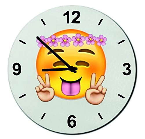 Cheeky Emoji Kids Bedroom Clock 7.08
