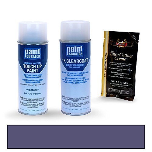 PAINTSCRATCH Newport Blue Pearl 64Z for 2010 Subaru Forester - Touch Up Paint Spray Can Kit - Original Factory OEM Automotive Paint - Color Match Guaranteed ()