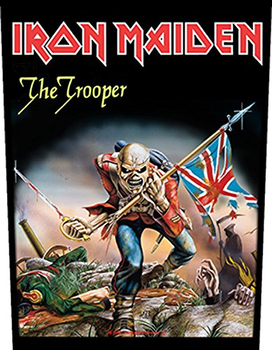 Iron Maiden The Trooper Official Backpatch (35cm x 26cm) Officially Liscenced Product