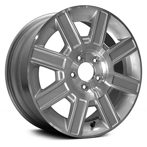 (Replacement 8 Spokes Machined and Silver Factory Alloy Wheel Fits Lincoln Town Car)