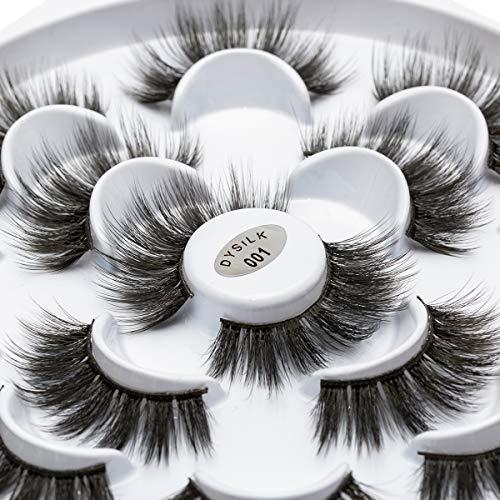DYSILK 10 Pairs 6D Mink Eyelashes Faux Fluffy Wispy Long Dramatic False Eyelashes Thick Volume Fake Eyelashes Natural…