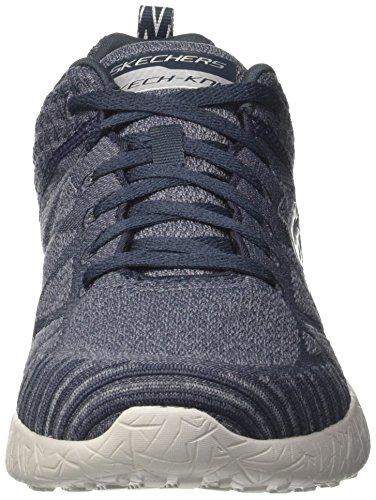Skechers Burst-Athis, Zapatillas para Hombre Azul (NVGY)