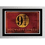 Harry Potter Hogwarts Express Platform 9 3/4 Sign Typography Minimalist Poster