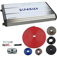 Hifonics 3200W Max Class D Monoblock Car Amp + VM Audio 4-Gauge Amp Wiring Kit