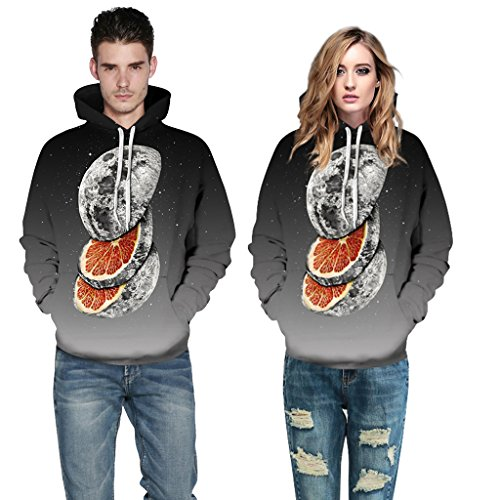 Zegoo Unisex Sweatshirts with Hat Hoody Cartoon Digital Print Fashion Brand Hoodies by Zegoo (Image #7)