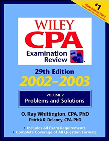 Wiley CPA Examination Review Problems And Solutions Cpa Vol 2 29th Ed Volume Edition