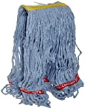 Rubbermaid Commercial Web Foot Wet Mop, Small, 1-Inch Yellow Headband, Blue (FGA11106BL00)