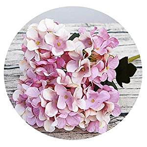 Zalin Silk Hydrangea DIY Gifts Wedding Christmas Decor for Home Fake floristics Plastic Household Products Artificial Flowers 19