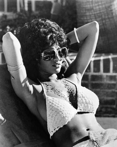 Pam Grier in Coffy Iconic Sexy pin up in bikini and sunglasses 8x10 Promotional Photograph