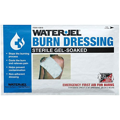 Water-Jel Burn Dressings (8'' x 18'') (8 Pack) by Water Jel Technologies