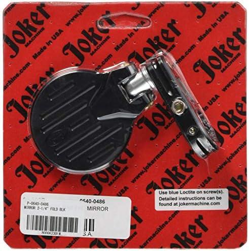 JOKER MACHINE(ジョーカーマシーン) バイクミラー フォールディングバーエンドミラー ラウンド 左右兼用モデル単品 鏡面2.25インチ P-0640-0486