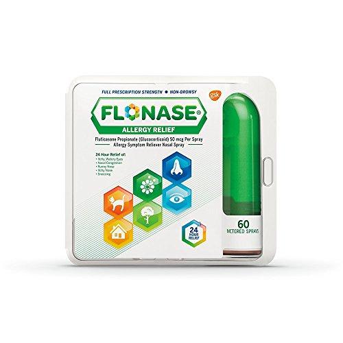 Flonase Fluticasone Propionate Nasal Spray for Allergy Relief, 60 Count
