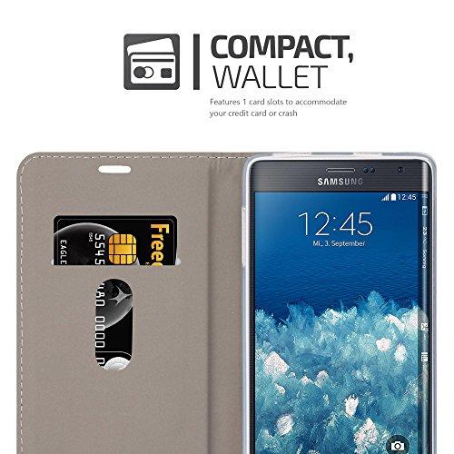 Cadorabo - Funda Estilo Book para >                                      Samsung Galaxy NOTE EDGE                                      < de Diseño Tela / Cuero Arificial con Tarjetero, Función de Soporte y Cierre Magnético Invisible