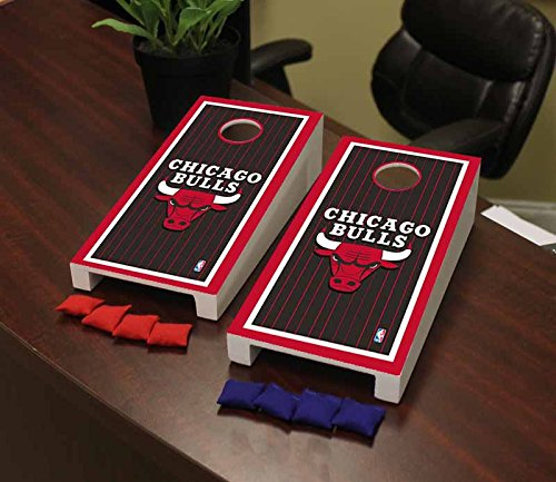 Victory Tailgate Chicago Bulls NBA Basketball Desktop Cornhole Game Set Border Version by Victory Tailgate