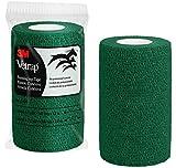 3M Vetrap Bulk 4'' Bold Color Bandaging Tape, 4'' x 5 Yards (Hunter Green, 100 Rolls)