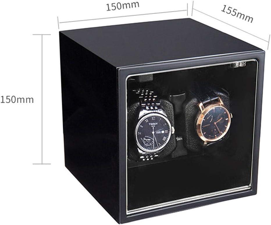 K-Y Watch Winder Scatola Orologio Avvolgitore Automatico Doppio Orologio con avvolgitore per Orologio con Motori silenziosi per Due Orologi (Colore : A) A