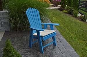 POLY Upright Adirondack Chair - Amish Made USA - Blue