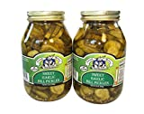 amish pickles - Amish Wedding Foods Sweet Garlic Dill Pickles 2 - 32 Oz Quarts All Natural