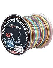 RUNCL Braided Fishing Line 8 Strands, Ultra Strong Braided Line - Smaller Diameter, Zero Memory, Zero Extension, Multiple Colors - 1093Yds/1000M 546Yds/500M 328Yds/300M 109Yds/100M, 12-100LB