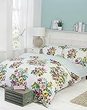 Floral Single Quilt Duvet Cover & Pillowcase Bedding Reversible Bed Linen Set New