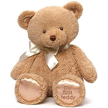 Amazon.com : Baby GUND My First Teddy Bear Stuffed Animal Plush, Tan ...