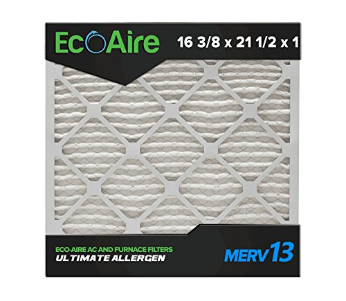 Eco-Aire 16 3/8 x 21 1/2 x 1 Premium MERV 13 Pleated Air Conditioner Filter, Box of 6 (Air Conditioner Box compare prices)