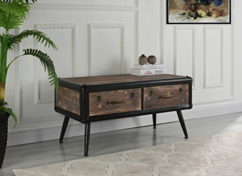 Entryway Traditional Wooden Chest with Drawers (Brown) by Sofamania