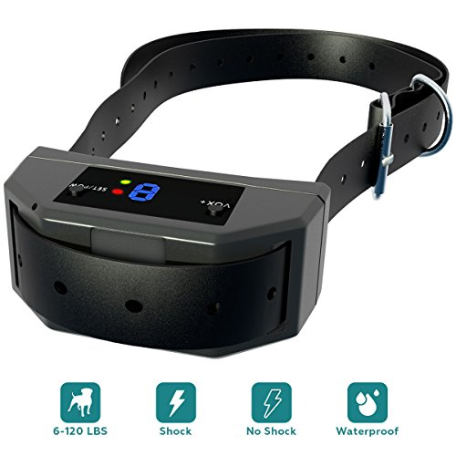 [NEW 2018 VERSION] Bark Collar with UPGRADED Smart Chip – Best Intelligent Dog Shock, Beep Anti-Barking Collar. No Bark Control for Small/Medium/Large Dogs – Safe Stop Barking Device Black