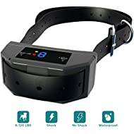 ELZU.US [NEWEST 2018 UPGRADED] Bark Collar with UPGRADED Smart Chip - Best Dog Anti-Barking Collar, Beep/Vibration/Shock Mode. No Bark Device for Medium/Large Dogs all Breeds over 7 lb