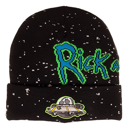 Bioworld Adult Swim Rick And Morty Spaceship Jacquard Cuff Beanie (Awesome Beanie)
