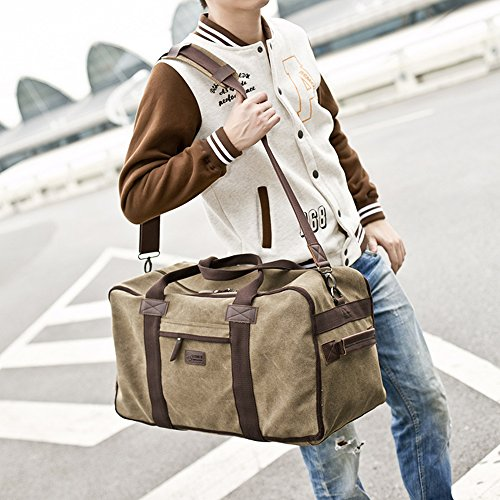 Black Travel Khaki Backpack Capacity Bag Multifunctional Canvas Man's Computer High Shoulder OFF8ZH