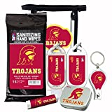 Cheap USC Trojans 6-Piece Fan Kit with Decorative Mint Tin, Nail Clippers, Hand Sanitizer, SPF 15 Lip Balm, SPF 30 Sunscreen, Sanitizer Wipes. NCAA Gifts for Men and Women