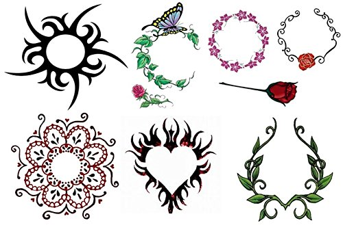 Body Collection (Naval Belly Temporary Tattoos) Belly Button Temporary Tattoo