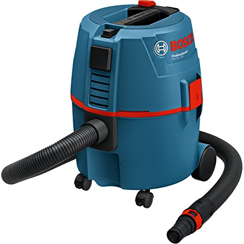 Bosch Professional GAS 20 L SFC Nass-/Trockensauger (20 L Behältervolumen, Staubklasse L) schwarz/blau/rot, 060197B000