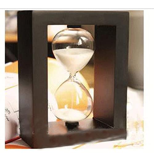 10 Min Hourglass Timer Creative Children Gift Room/office Decoration (black frame white sand)
