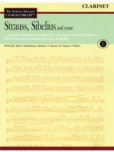 Orchestra Musician's CD-ROM Library Vol. 9 Clarinet Strauss Sibelius And More Clarinet Orchestra Musicians Cd Rom