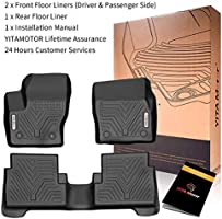 All Weather Heavy Duty Floor Mat Set Autotech Park Custom Fit Car Floor Mat Compatible with 2011-2014 Compatible withd Explorer SUV