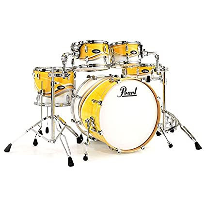 Pearl Vba Hybrid Shell Pack Drum Kit With Chrome Hardware Grey And