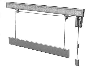 Binari Per Tende A Pacchetto A Vetro.Bastone Binario Per Tenda A Pacchetto A Vetro Professionale Tecnico Alluminio 2 Calate 70 Cm