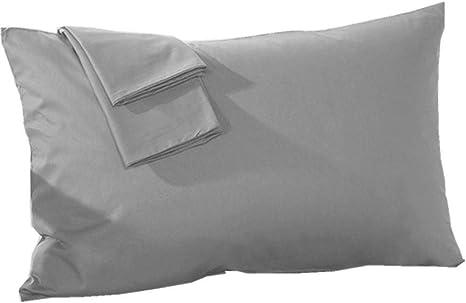 "Pillow Cases 400 Thread Count 20/""x30/"" 100/% PREMIUM QUALITY White Cotton Queen//"