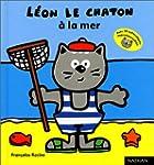 Leon le chaton a la mer -autocoll.