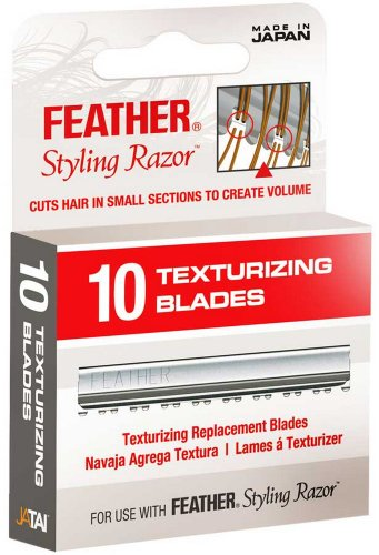 JATAI Barber Salon Feather Texturizing Replacement Blades 10 Pack (Texturizing Clipper Blade)