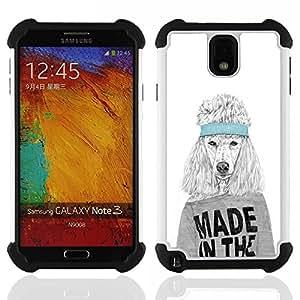 - Funny Made In The USA Dog/ H??brido 3in1 Deluxe Impreso duro Soft Alto Impacto caja de la armadura Defender - SHIMIN CAO - For Samsung Galaxy Note3 N9000 N9008V N9009