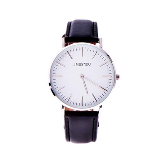 Moda casual relojes/Resistente al agua reloj de cuarzo/Ultra fino botón grande-A: Amazon.es: Relojes