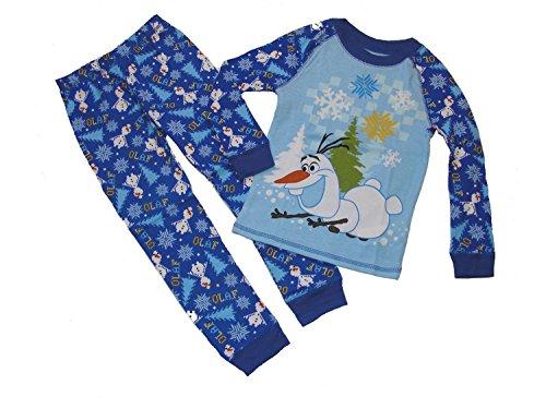 Disney PJ Pals Frozen's Olaf and Snowflakes Cotton Size 4 Pajama Set Snow Pals Snowman