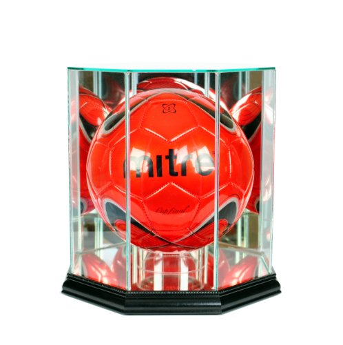 - Perfect Cases MLS Octagon Soccer Ball Glass Display Case, Black