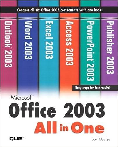 microsoft office 2003 all in one joe habraken 0029236729363