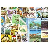 Dinosaurs & Prehistoric Animals : 300 Different Stamps Collection Mixture Packet Stamps for Collectors
