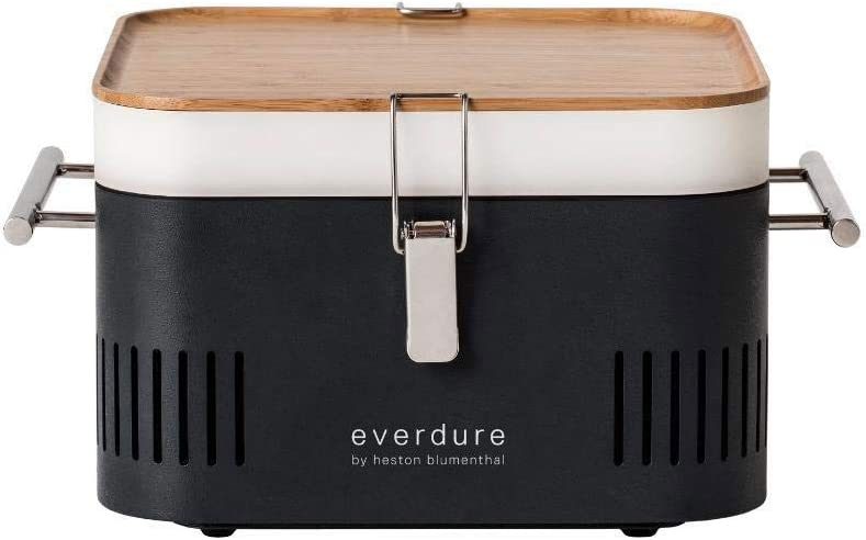 Everdure Cube Portable Charcoal Grill HBCUBEGUS , Graphite, 15-Inches