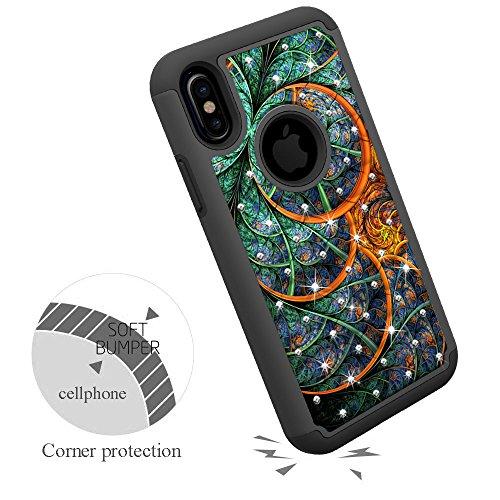 Coque iPhoneX , NEEDOON [Créatif] Cristal brillant Crystal Bling Hybrid Totem Series Armor Defender Housse de protection pour iPhone X